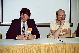 Jim Shooter - Shooter with writer Steve Englehart at the San Diego Comic-Con in 1982.