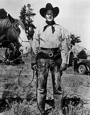 Tales of the Texas Rangers - Joel McRae in publicity still issued for radio series (but actually in costume for the 1950 film The Outriders).