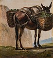 Johan Christian Dahl - Donkey with Baskets - Esel - KODE Art Museums and Composer Homes - BB.M.00537.jpg