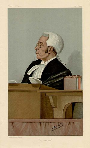 Liverpool Exchange by-election, 1897 - Vanity Fair caricature of John Bigham, whose appointment as a judge triggered the by-election