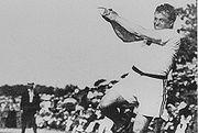 John Flanagan during 1904 Summer Olympics