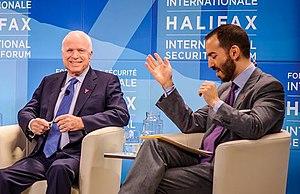 Jonathan Tepperman - John Tepperman with Senator John McCain at the Halifax International Security Forum 2014