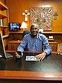 Johnny Riley Jr in Office in Texas USA.jpg