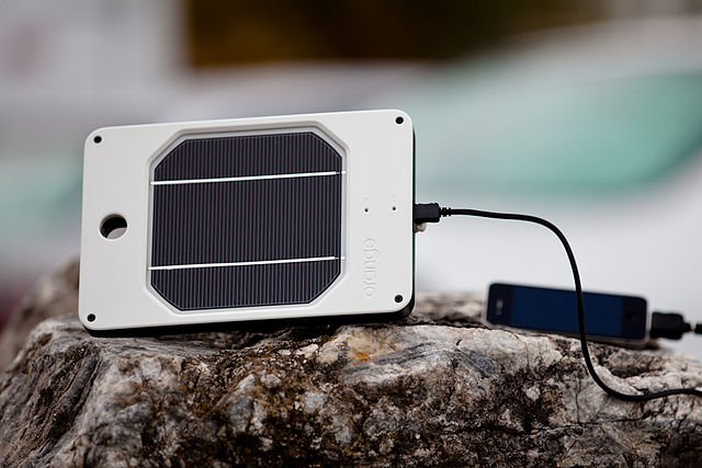 Solar powered chargers are portable and effective