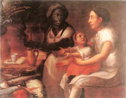 Mulatto child of a white father and black mother, Mexico, 18th century Jose Joaquin Magon - La Mulata.jpg