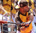 Jose Altuve takes batting practice on Gatorade All-Star Workout Day. (28555476922).jpg