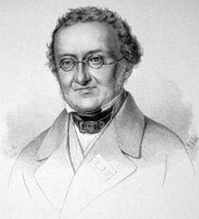Josef Freiherr von Hormayr, Lithographie von Ignaz Fertig um 1850 (Quelle: Wikimedia)