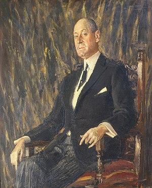Joseph E. Widener - 1921 portrait by Augustus John.