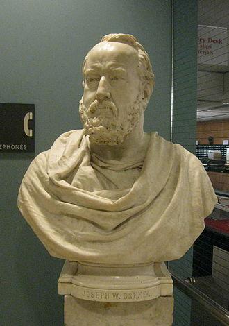 Joseph William Drexel - Bust of Drexel by sculptor John Quincy Adams Ward, 1889