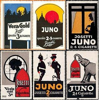 Juno (cigarette) - Old adverts of the Juno brand.