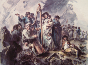 Cerdd Dant - Image: Julius Caesar Ibbetson Penillion singing near Conwy