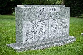 Arthur Goldberg - Grave of Justice Arthur J. Goldberg