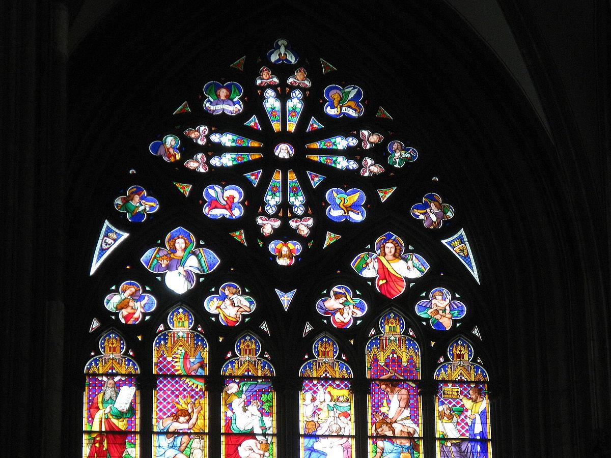File Kolner Dom Fenster Der Westseite Von Innen Mittelfenster 3 Jpg Wikimedia Commons