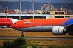 KLM Royal Dutch Airlines, Boeing 777-300ER, PH-BVA - TPE (36358189090).jpg