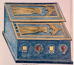 John of Gaunt - 1640 drawing of tombs of Katherine Swynford and daughter Joan Beaufort
