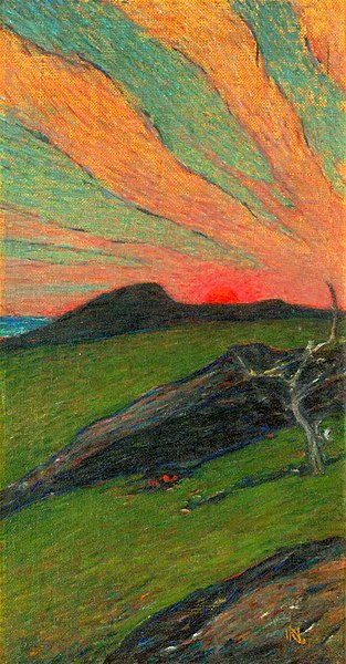 File:Karl Nordström, Sunset, oil on canvas, appr. 1899.jpg