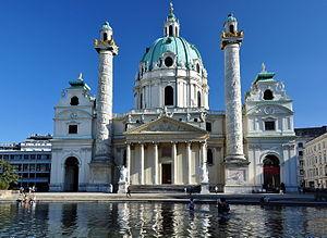 Karlskirche - Image: Karlskirche, Viedeň, Rakúsko