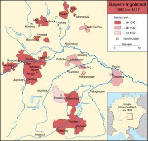 Bavaria-Ingolstadt - The Duchy of Bavaria-Ingolstadt (1392–1447)