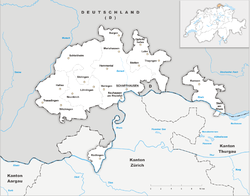 Map of the Canton of Schaffhausen