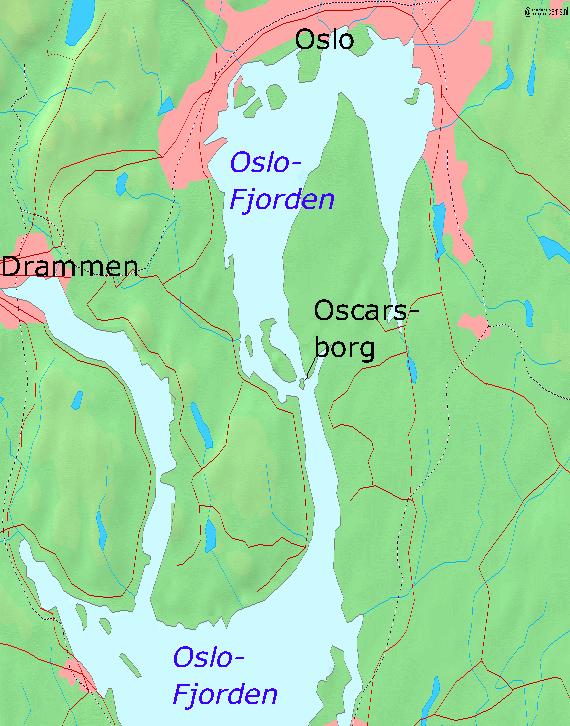 Karte Oscarsborg