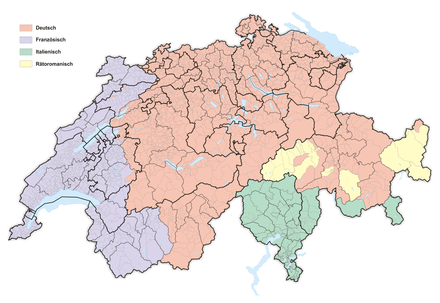 National languages in Switzerland (2016):
