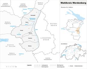 Map of Werdenberg constituency