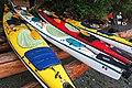 Kayaks at Kaikash Creek Orca Camp (29941710736).jpg
