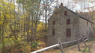 Swartswood State Park - Keen's Grist Mill, built 1838, on the southern end of Swartswood Lake