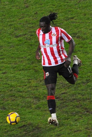 Kenwyne Jones - Kenwyne Jones in action for Sunderland against Chelsea in 2010