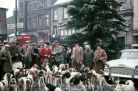 Boxing Day Meet of the Blencathra Foxhounds in Keswick, 1962 Keswick Boxing Day hunt 1962.jpg