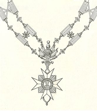 Order of the Golden Spur - Livery collar of the Order of Saint Sylvester and the Golden Militia prior to 1905.