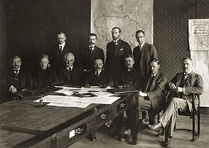 Mykolas Sleževičius - Mykolas Sleževičius (seated, in the middle), the head of the Fourth Cabinet.