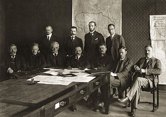 Jonas Vileišis - Jonas Vileišis (seated, first from right) in the Fourth Cabinet of Ministers