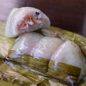 Coconut rice - Thai khao tom mat.