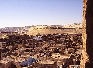 Kharga Oasis - A view of a mudbrick settlement at Kharga Oasis.