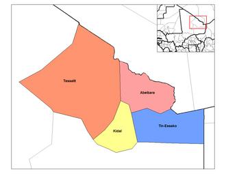 Kidal Region - Cercles of the Kidal Region