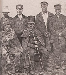 Lesotho-History-King Moshoeshoe of the Basotho with his ministers