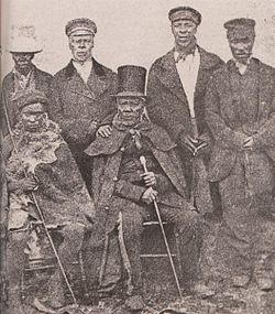 King Moshoeshoe of the Basotho with his ministers.jpg
