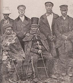 King Moshoeshoe I with his Ministers King Moshoeshoe of the Basotho with his ministers.jpg