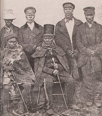 Smithfield, Free State - King Moshoeshoe with his advisors