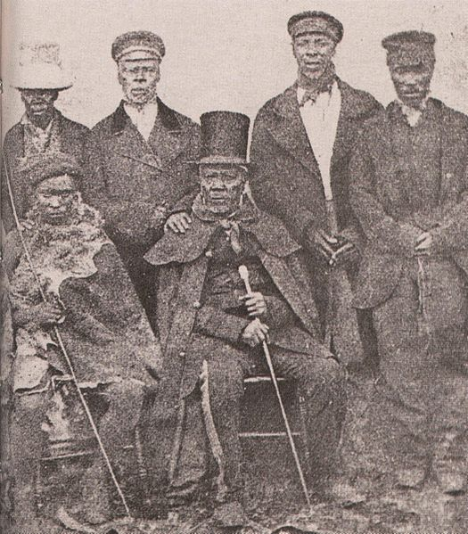File:King Moshoeshoe of the Basotho with his ministers.jpg