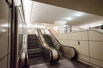 King station - Escalators to Scotia Plaza and PATH
