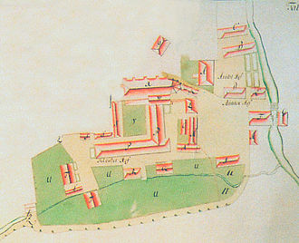 Walsrode Abbey - Plan of the monastery in 1755