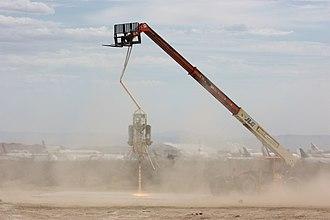 "Masten Space Systems - XA0.1B ""Xombie"" lander tethered flight test on Sep 11, 2009"