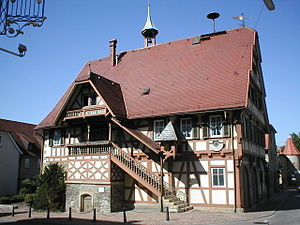 Bad Friedrichshall - old town hall of Kochendorf