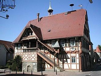 Bad Friedrichshall - old town hall of Kochendorf