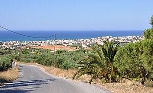 Gouves, Greece - View of Kokkíni Háni