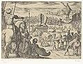 Kolos van Rhodos Septem orbis admiranda (serietitel) De zeven wereldwonderen (serietitel), RP-P-H-OB-44.043.jpg