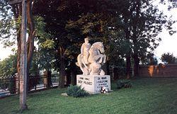 Pomnik upamiętniający bitwę pod Komarowem 31 sierpnia 1920