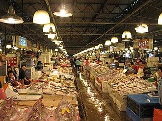 Noryangjin Fisheries Wholesale Market - Image: Korea Seoul Noryangjin Fish Market 03